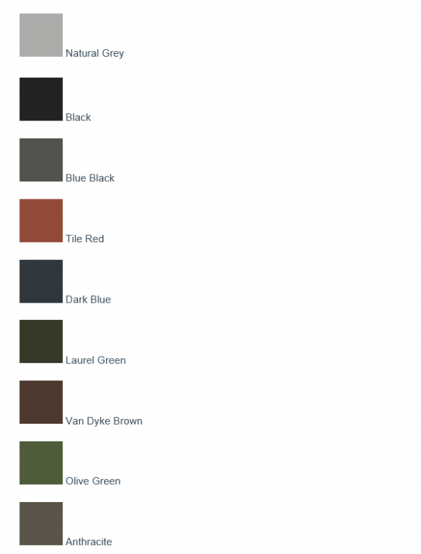 Cemsix sheeting colours
